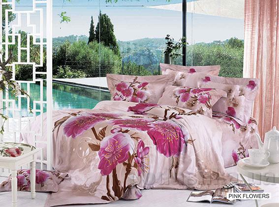 Постельное белье Arya 3D Pink flowers