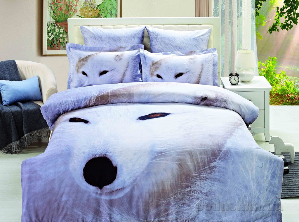 Постельное белье Arya 3D White wolf