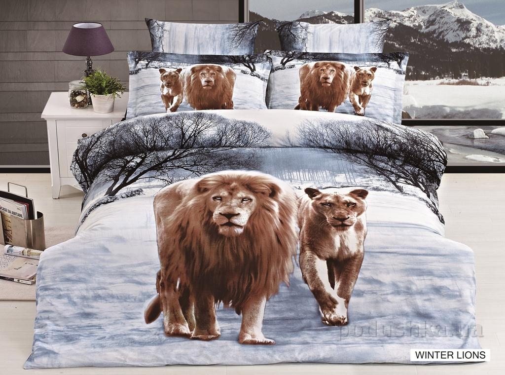 Постельное белье Arya 3D Winter lions