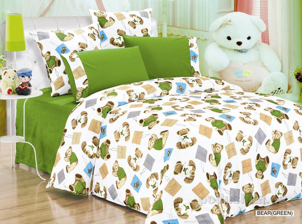 Постельное белье Arya Bear green