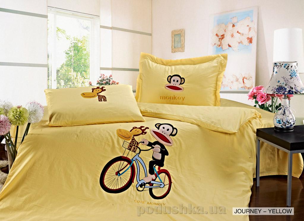 Постельное белье Arya Journey yellow