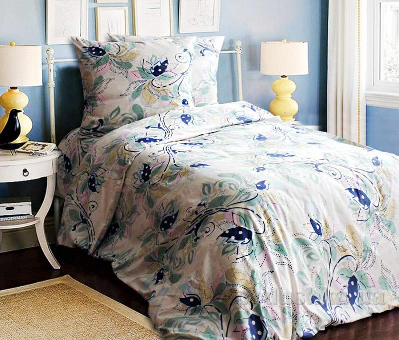 Постельное белье Блакит Черемуха 4417 Полуторный комплект наволочки 50х70 см (2шт) Блакит