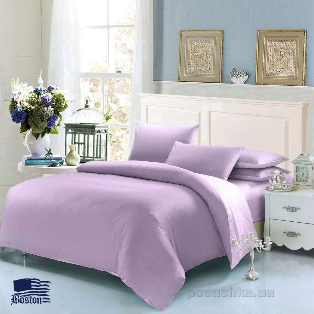 Комплект постельного белья Boston Jefferson Sateen Lilac сиреневый