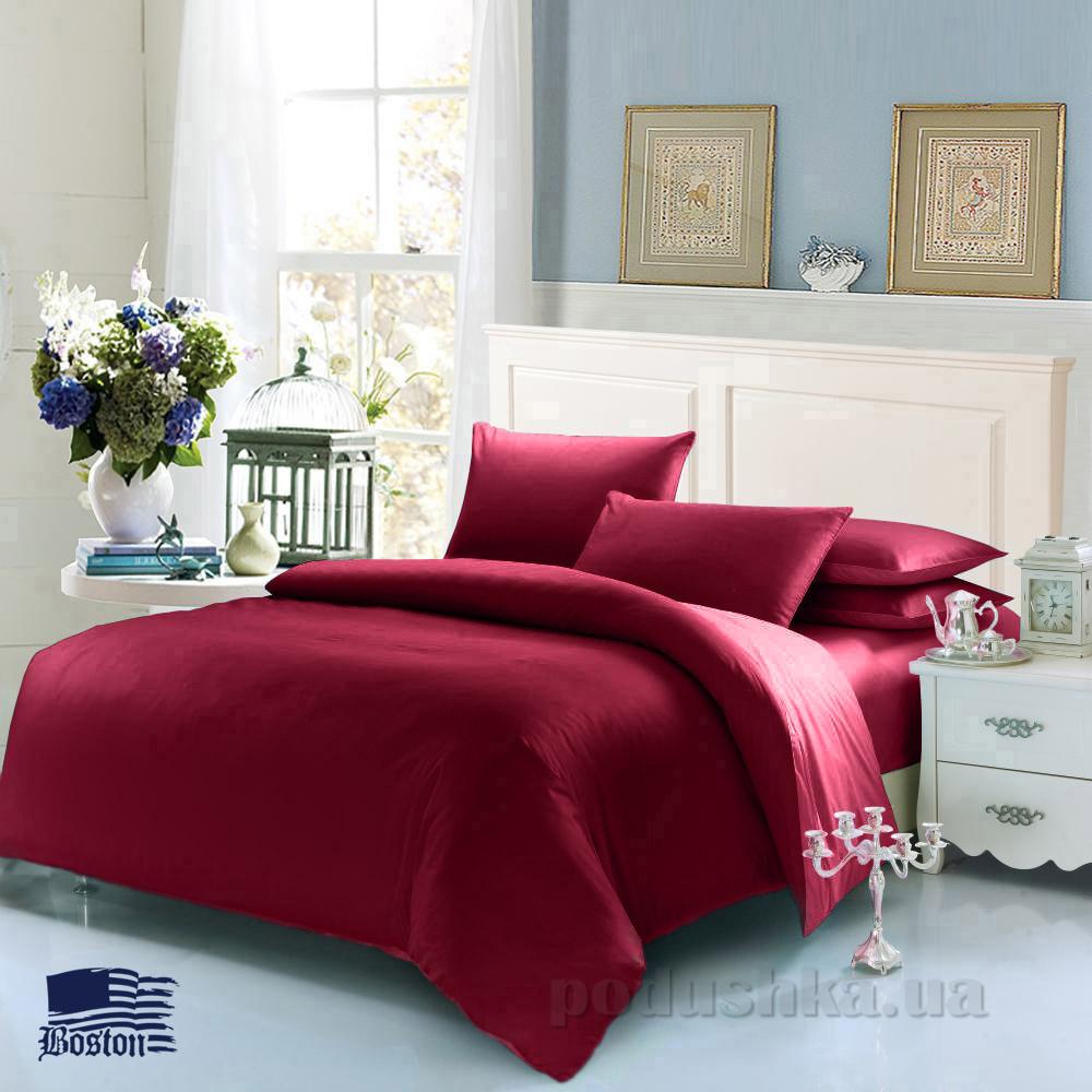 Комплект постельного белья Boston Jefferson Sateen Wine Red красный