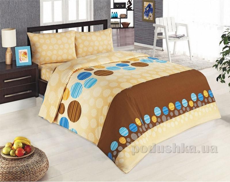 Комплект постельного белья Classi Amber Luna Arya 1000862 коричневый