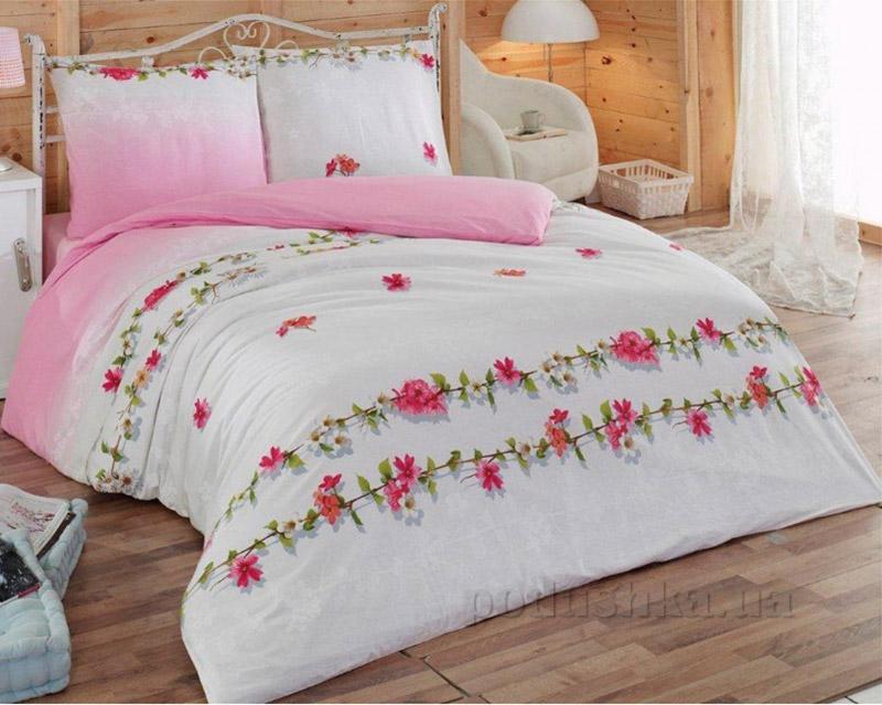 Комплект постельного белья Classi Aylena Arya 1001111 бело-розовый