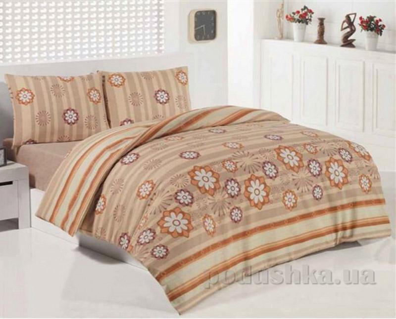 Комплект постельного белья Classi Beren Arya 1001113 Коричневий