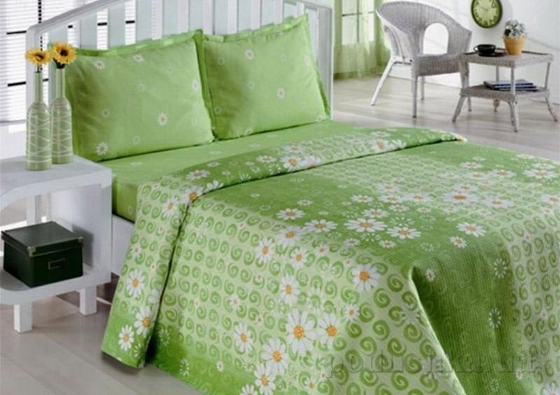 Комплект постельного белья Classi Daisy Papatya Arya 1000852 Зеленый