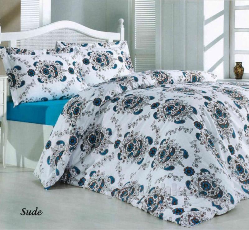 Комплект постельного белья Classi Senelde Sude Arya 1000328 бирюзовый