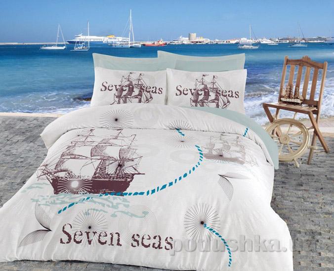 Постельное белье Cotton Box Seven seas mint