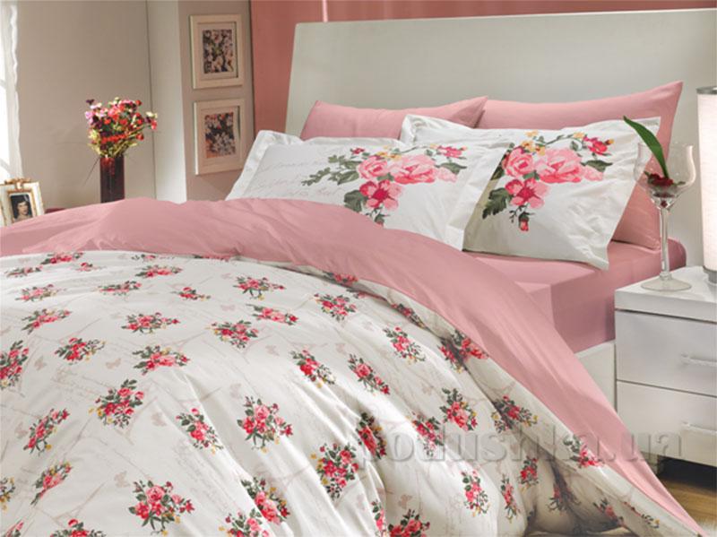 Постельное белье Hobby Poplin Paris Spring розовый