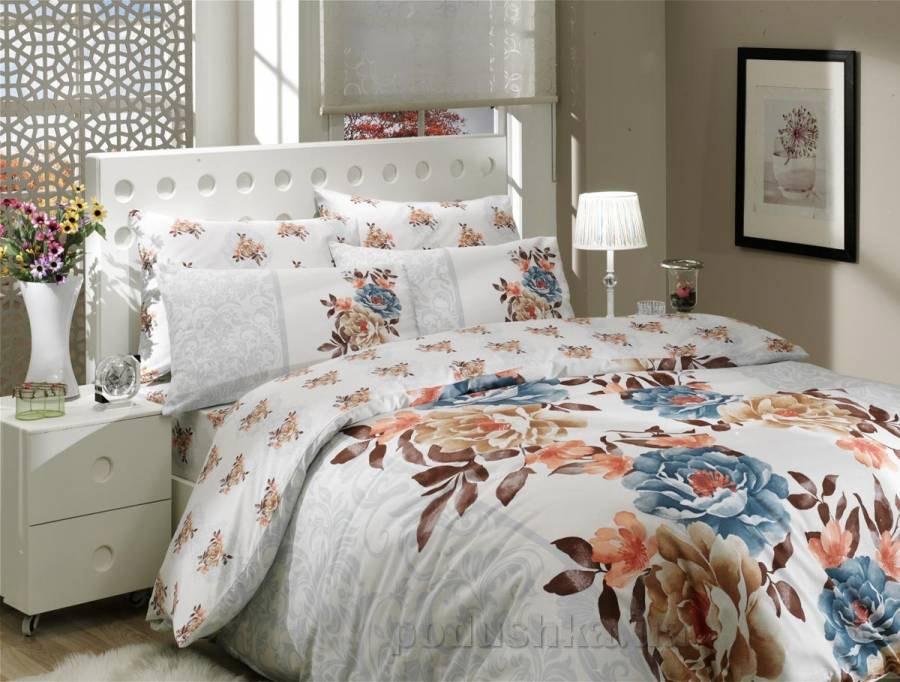Комплект постельного белья Hobby Ranforce Delicia mavi