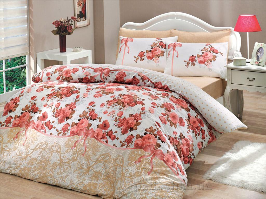 Комплект постельного белья Hobby Ranforce Felicita розовый