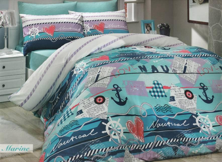 Комплект постельного белья Hobby Ranforce Marine бирюзовый
