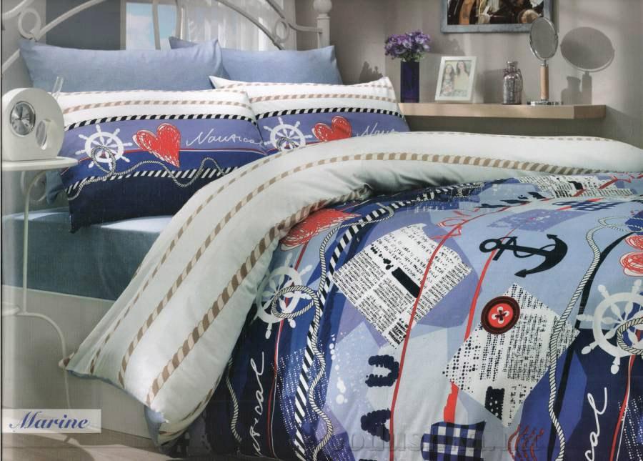Комплект постельного белья Hobby Ranforce Marine голубой