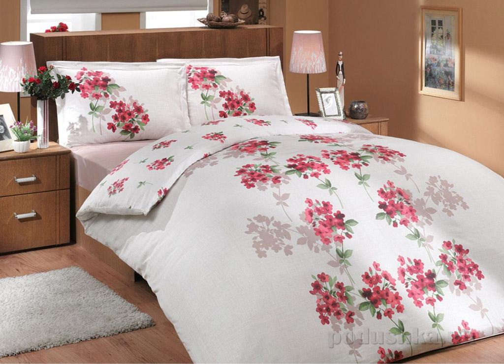Комплект постельного белья Hobby Ranforce Viyella красный