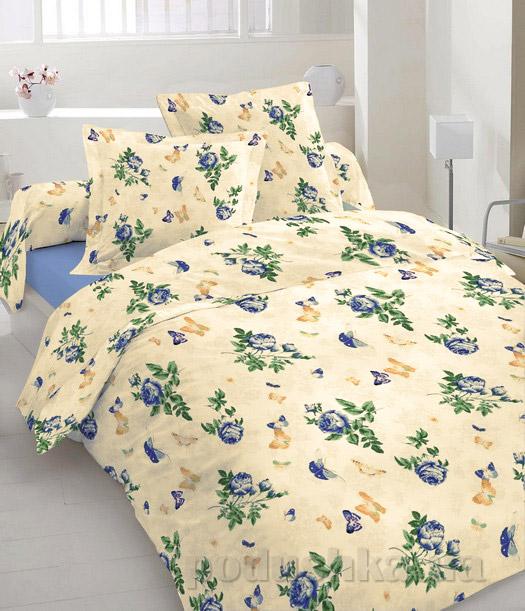 Постельное белье Home line Бабочка голубой