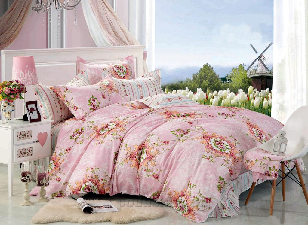 Постельное белье Home line Элина розовый