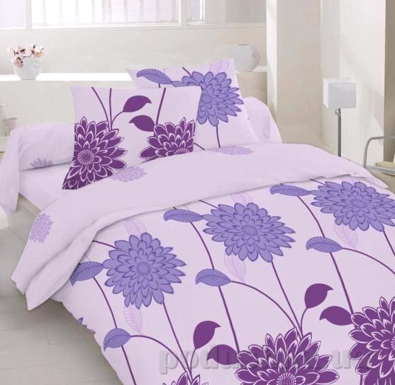 Постельное белье Home line Гортензия фиолетовый