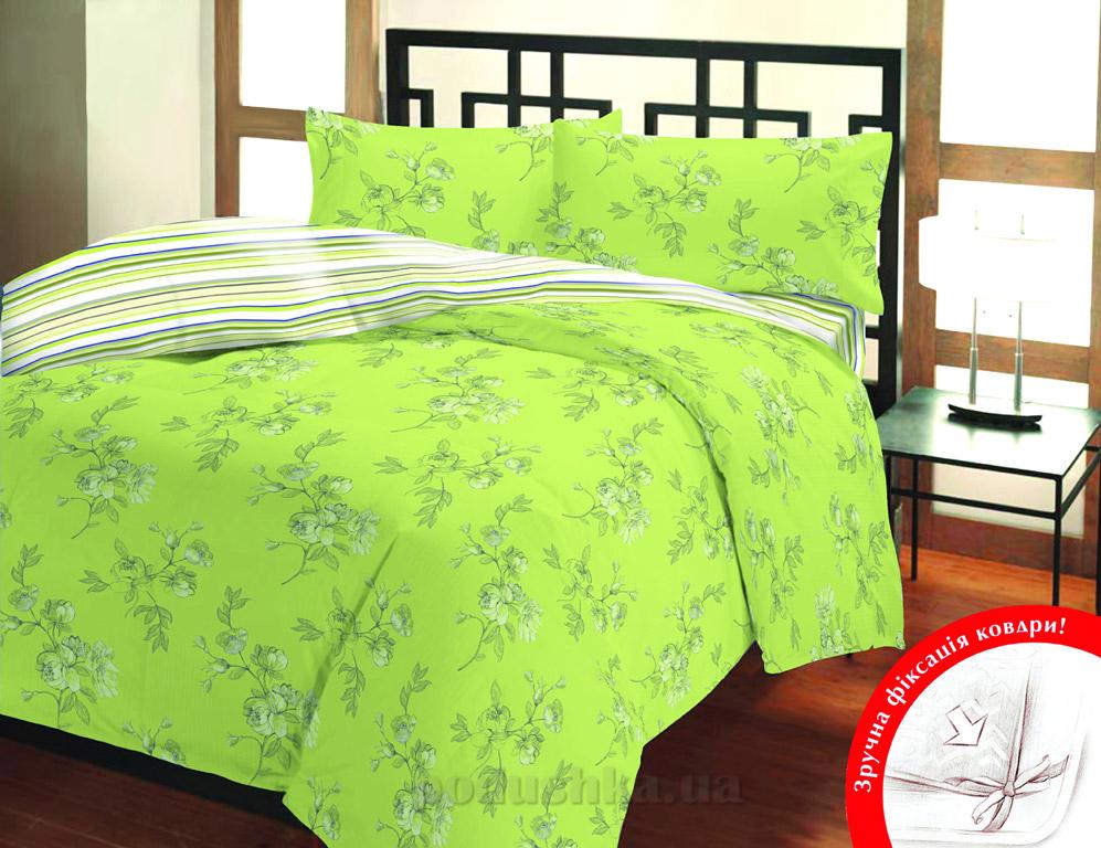 Постельное белье Home line Луизиана зелёный
