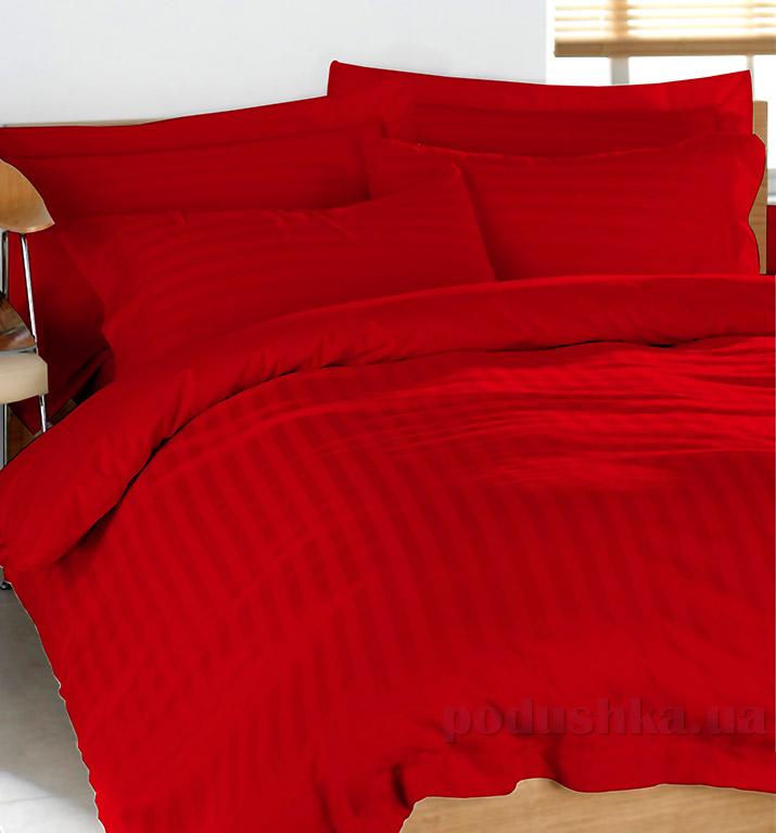 Постельное белье из страйп-сатина Terry Lux Red