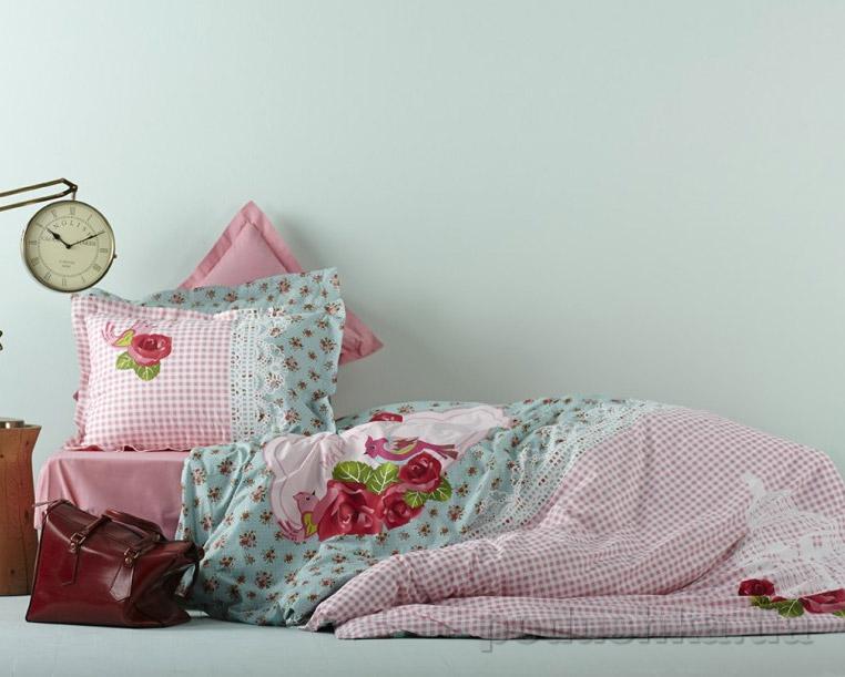 Постельное белье Karaca Luci розовый