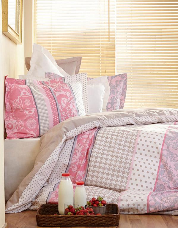 Постельное белье Karaca Nancy розовый