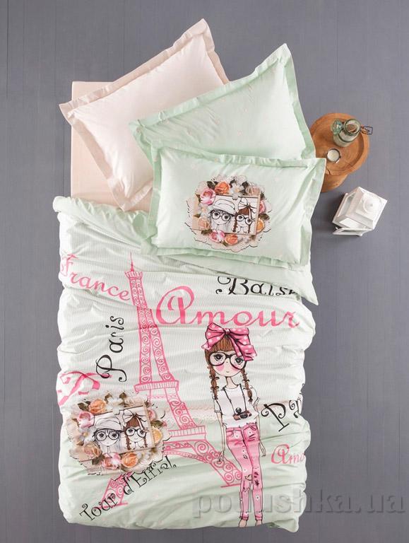 Постельное белье Karaca Pink girl зелёный