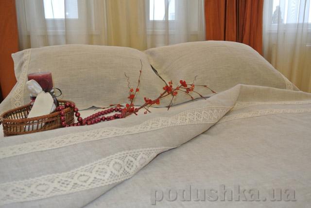 Комплект постельного белья Хэппи лен из небеленого льна