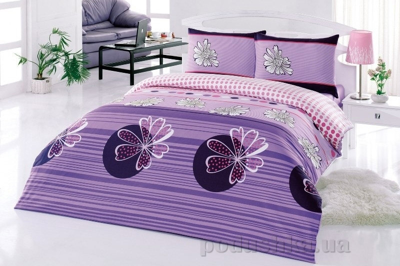 Постельное белье Kristal Serra V02 лиловый