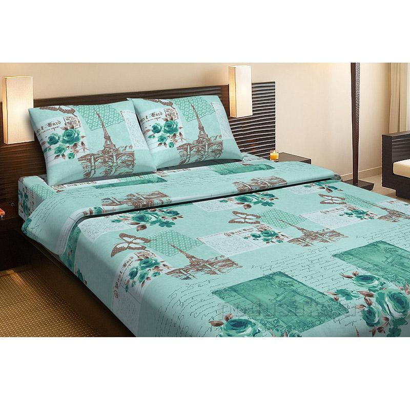 Комплект постельного белья Lotus Paris бирюзовый