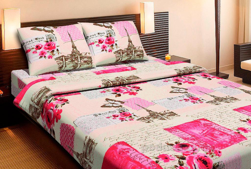 Комплект постельного белья Lotus Paris коралловый