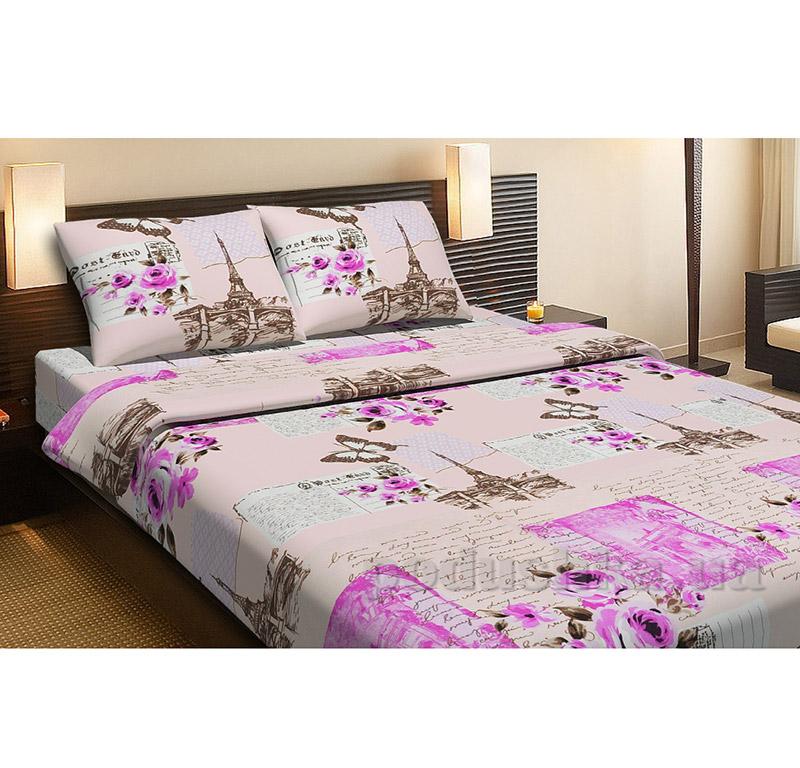 Комплект постельного белья Lotus Paris персиковый