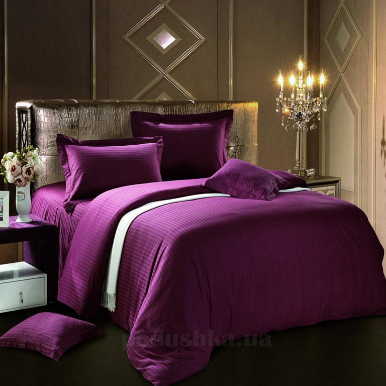 Постельное белье Love You страйп-сатин фиолетовый