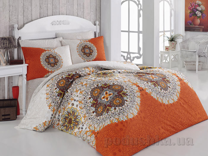 Постельное белье Majoli Harmony V1 Oranj