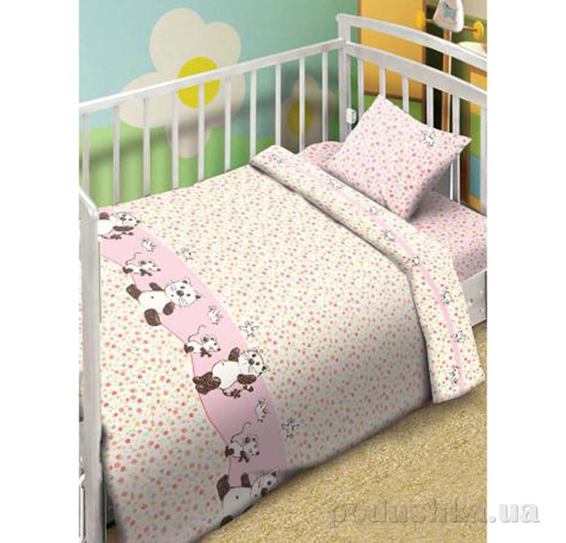 Постельное белье Мой ангел Котята-мышата розовый