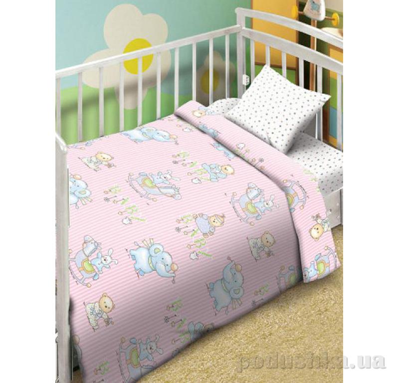 Постельное белье Мой ангел Малыши розовый