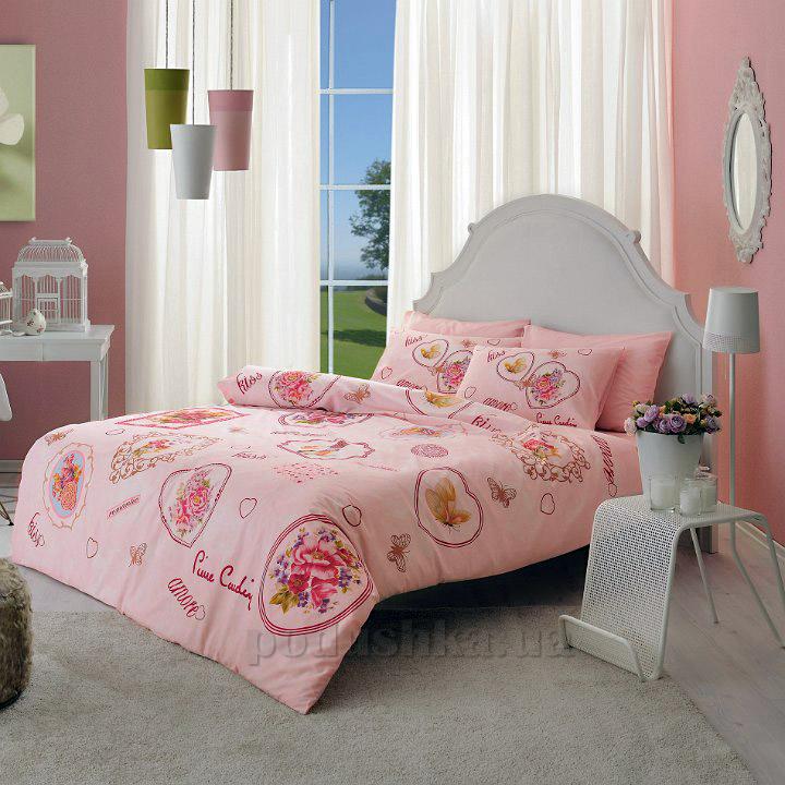 Комплект постельного белья Pierre Cardin Chelsy V01 розовый