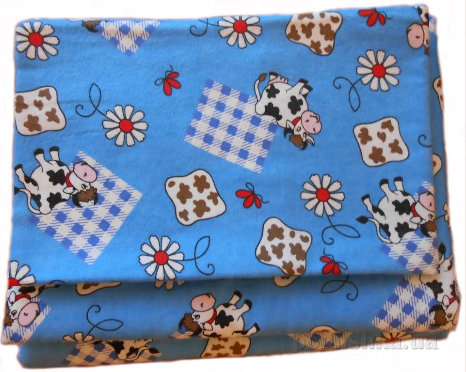 Постельное белье Руно 932.05 Коровки на голубом