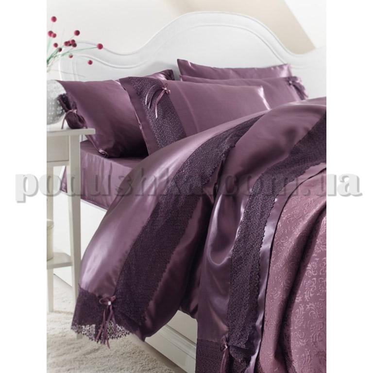 Постельное белье с покрывалом Karaca Tugce фиолетовый