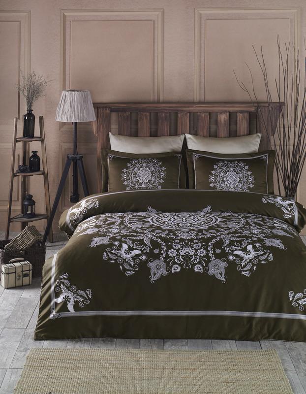 Комплект постельного белья SoundSleep Mandala brown сатин