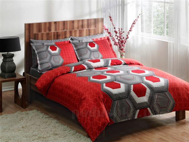 Постельное белье TAC Aspen V04 красный