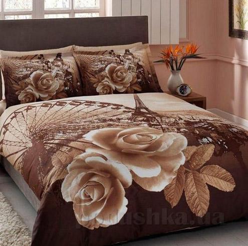 Постельное белье TAC Galya V03 коричневый