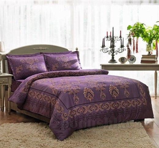 Постельное белье TAC Grota V01 фиолетовый