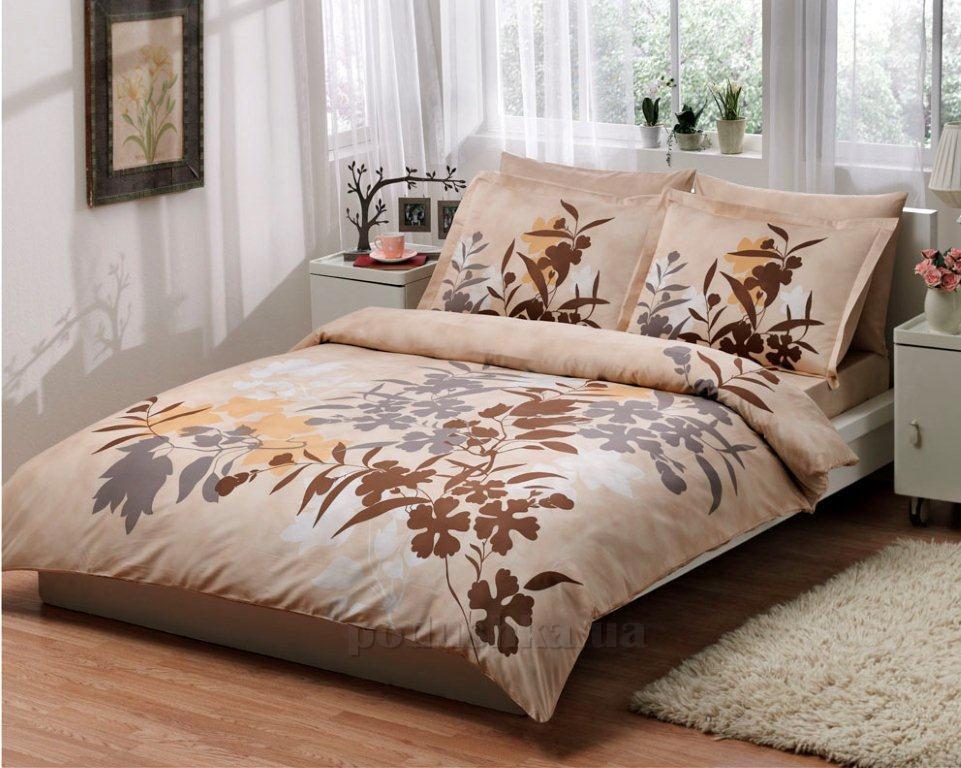 Постельное белье TAC Ledra V02 коричневый
