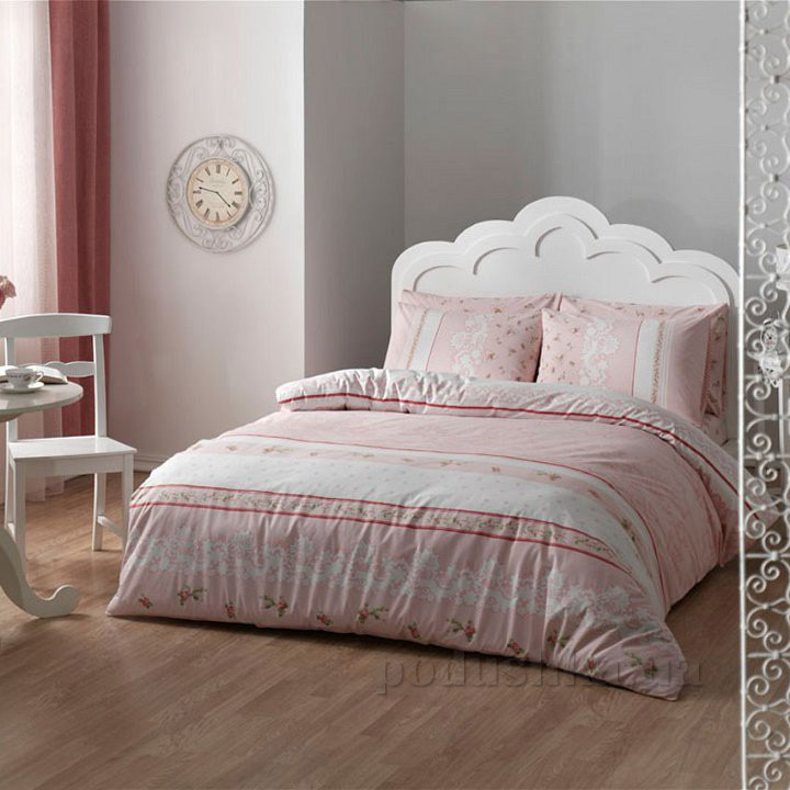 Постельное белье TAC Rose V01 розовый ранфорс