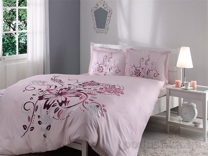 Постельное белье TAC Satin DeLuxe Perry розовый