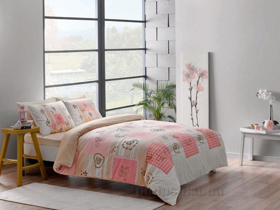Постельное белье TAC Selby V03 розовый