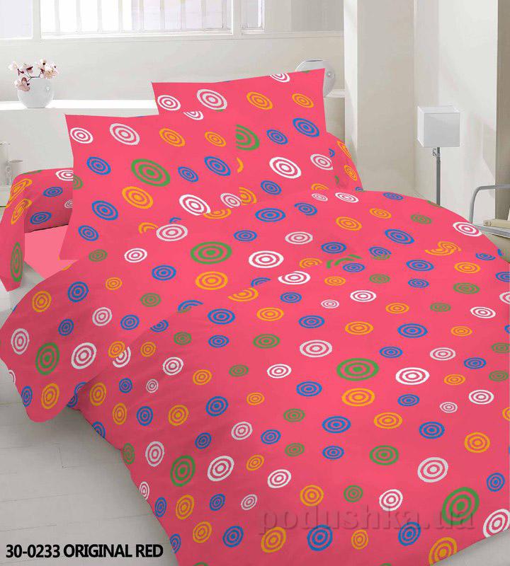 Комплект постельного белья TM Nostra Бязь Эконом красный композиция
