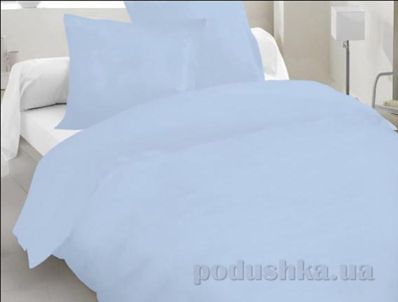Комплект постельного белья TM Nostra Бязь гладкокрашеная голубая Семейный комплект  TM Nostra